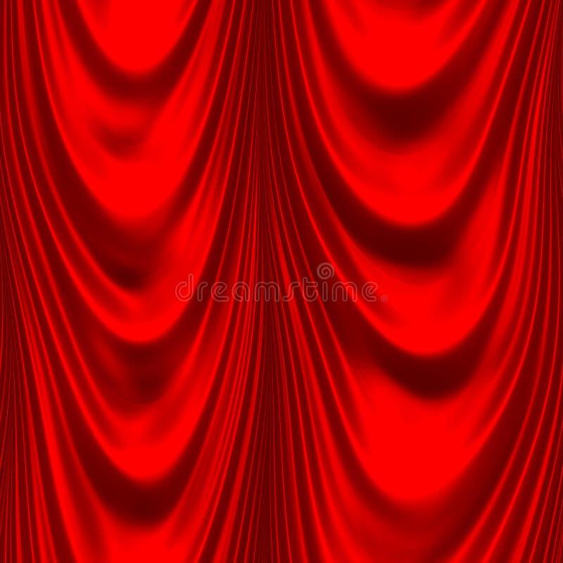 duży drapuje czerwonego atłas ilustracja wektor
