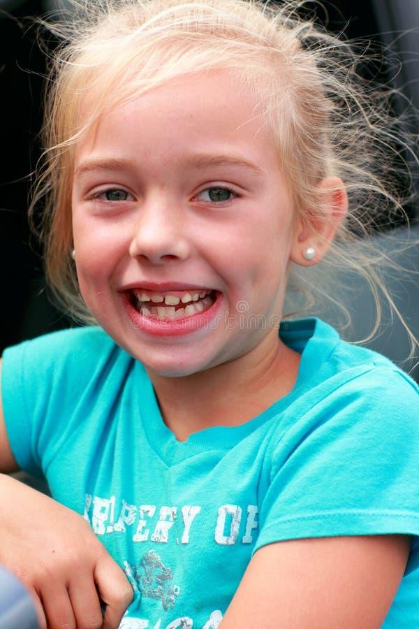 duży dziewczyny mały uśmiech zdjęcia stock