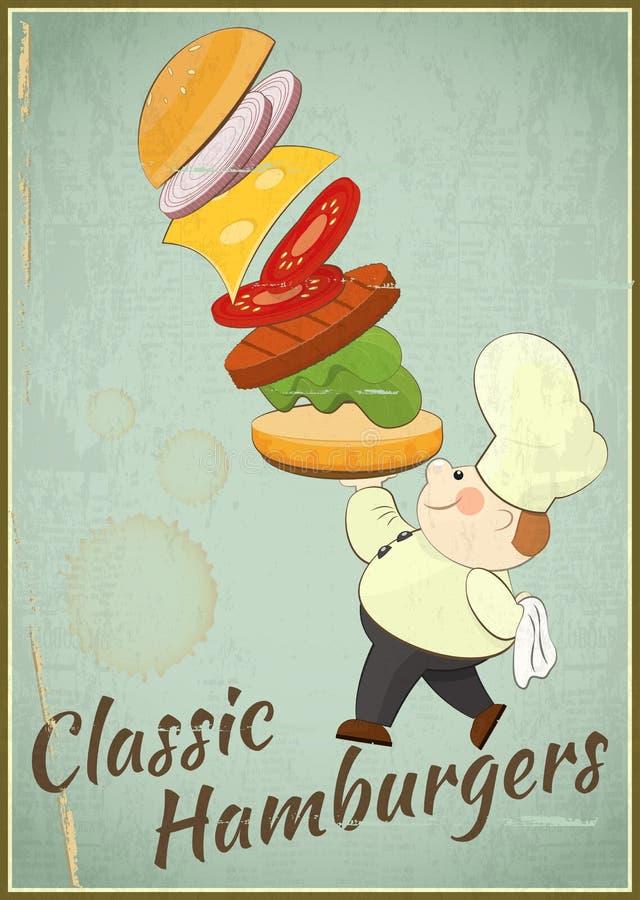 Duży hamburger ilustracji