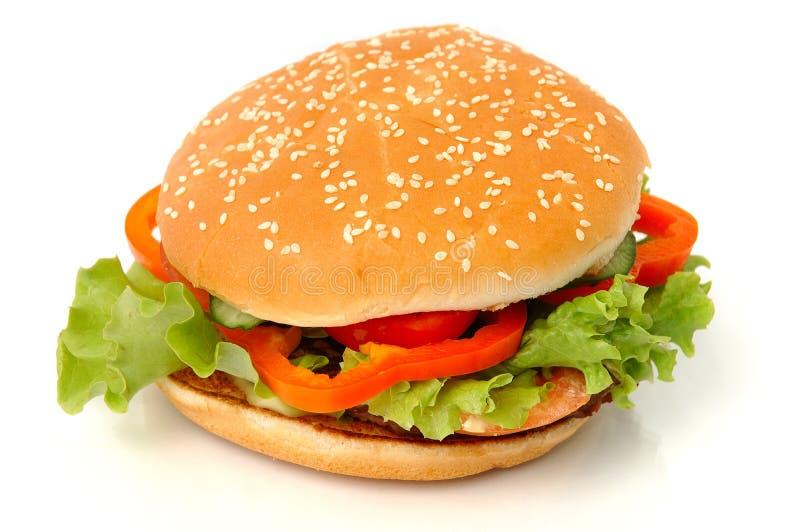 duży hamburger odizolowane fotografia royalty free