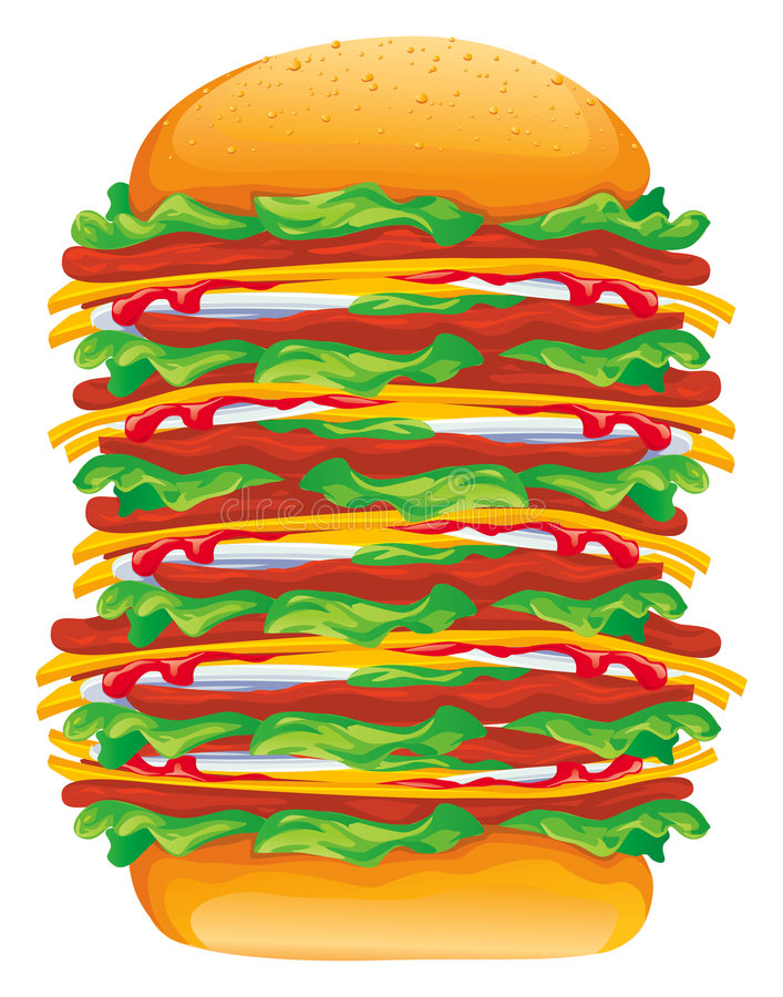 duży hamburger wektora royalty ilustracja