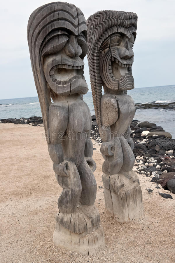 duży Hawaii honaunau wyspy o pu uhonua zdjęcia royalty free