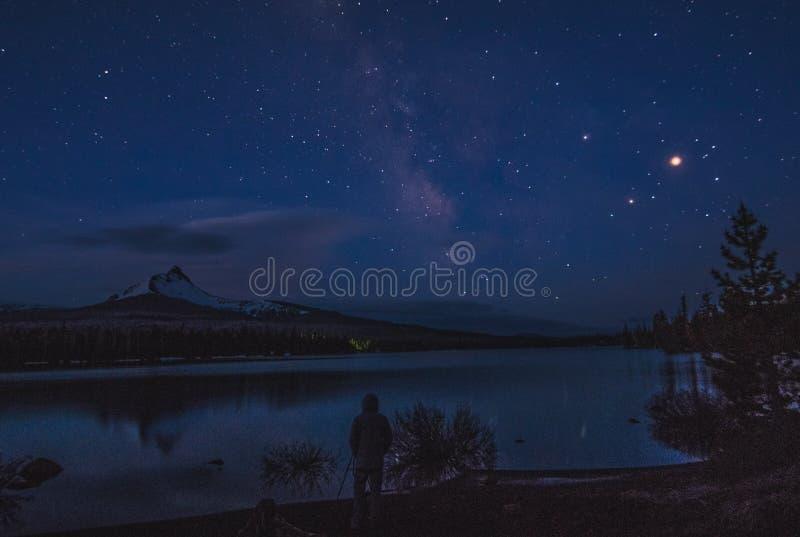 Duży Jeziorny Milky sposób zdjęcia royalty free
