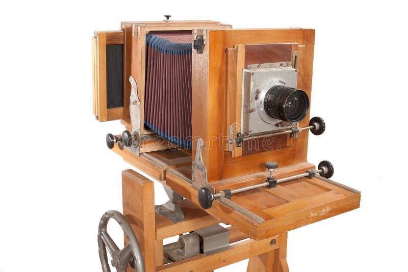 duży kamery formata stary drewniany fotografia stock