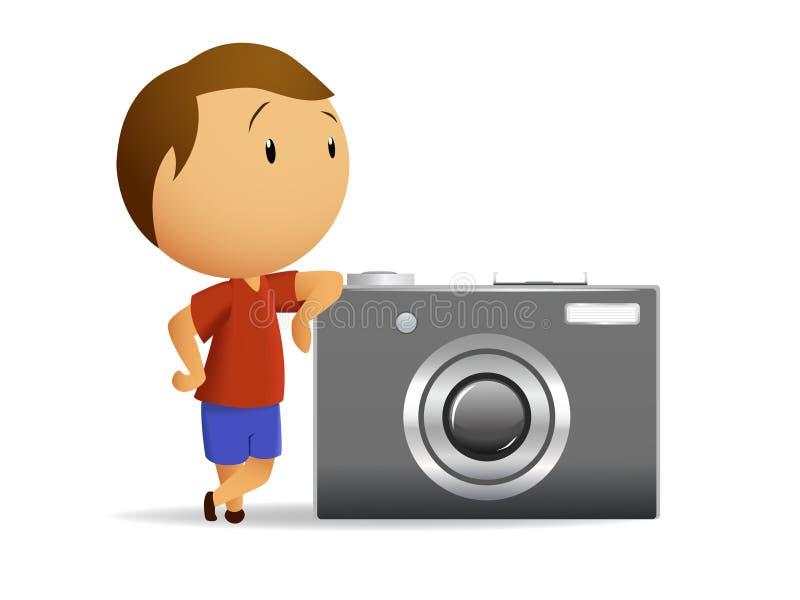 duży kamery mali mężczyzna ilustracja wektor