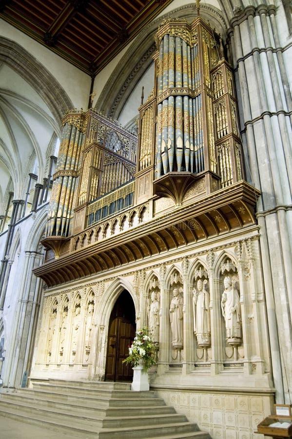 duży katedralny Kent uk organowy Rochester obrazy royalty free