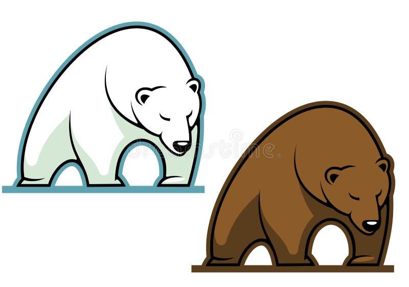 Duży kodiak niedźwiedź ilustracji