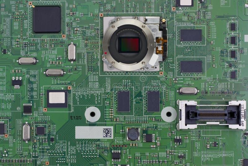Duży kontrolny elektroniczny plan obrazy stock