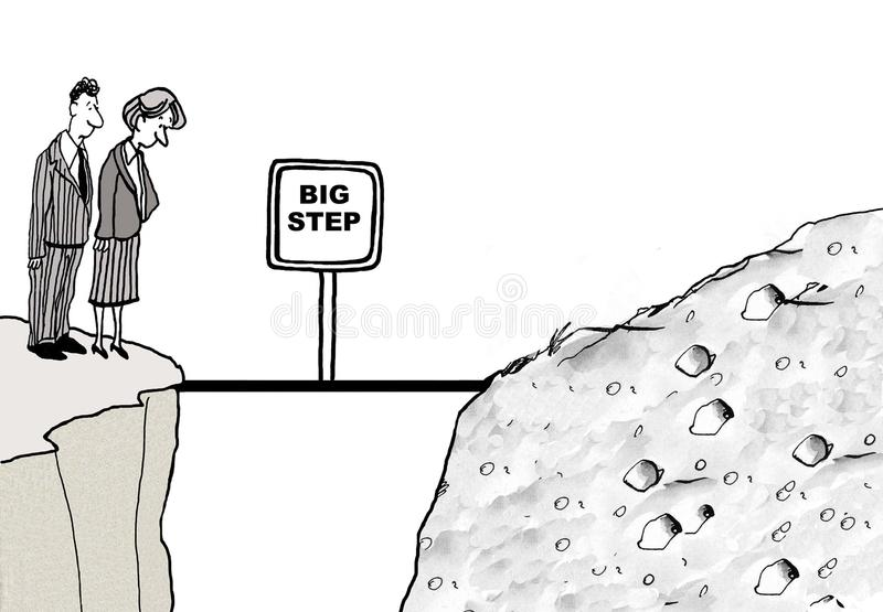 duży krok ilustracji