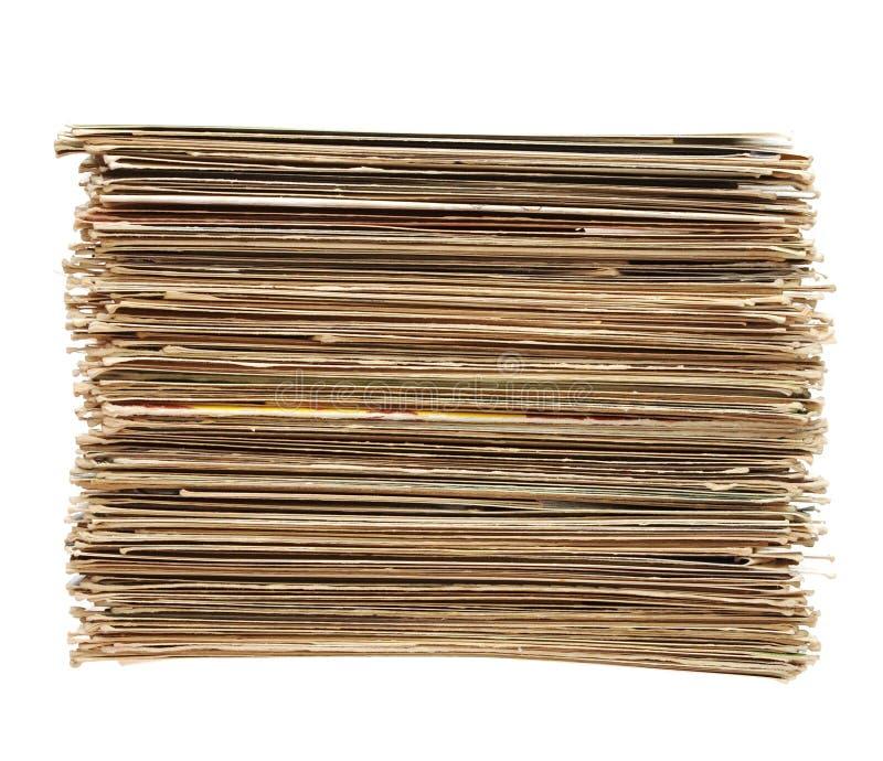 duży listów stare palowe pocztówki zdjęcia stock