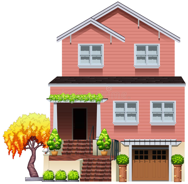 Duży mieszkaniowy dom ilustracji