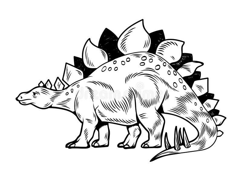 Duży, niebezpieczny dinozaur dinozaura ilustracji