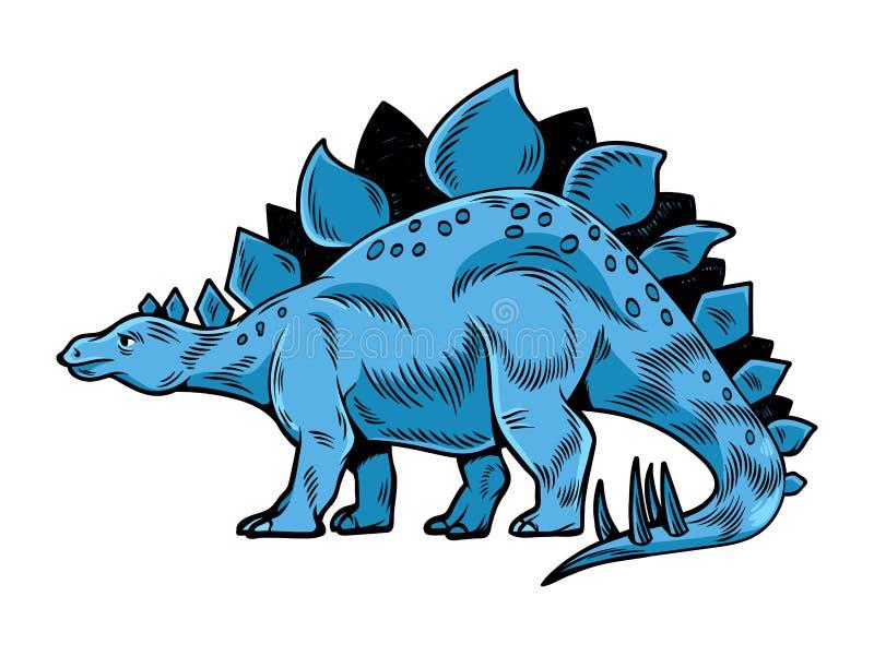 Duży, niebezpieczny dinozaur dinozaura royalty ilustracja