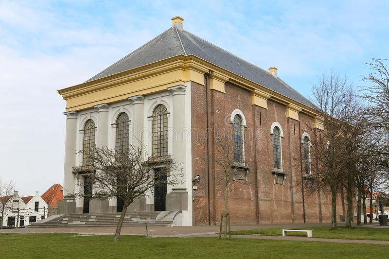 Duży nowy kościelny Zierikzee, Zeeland zdjęcie stock
