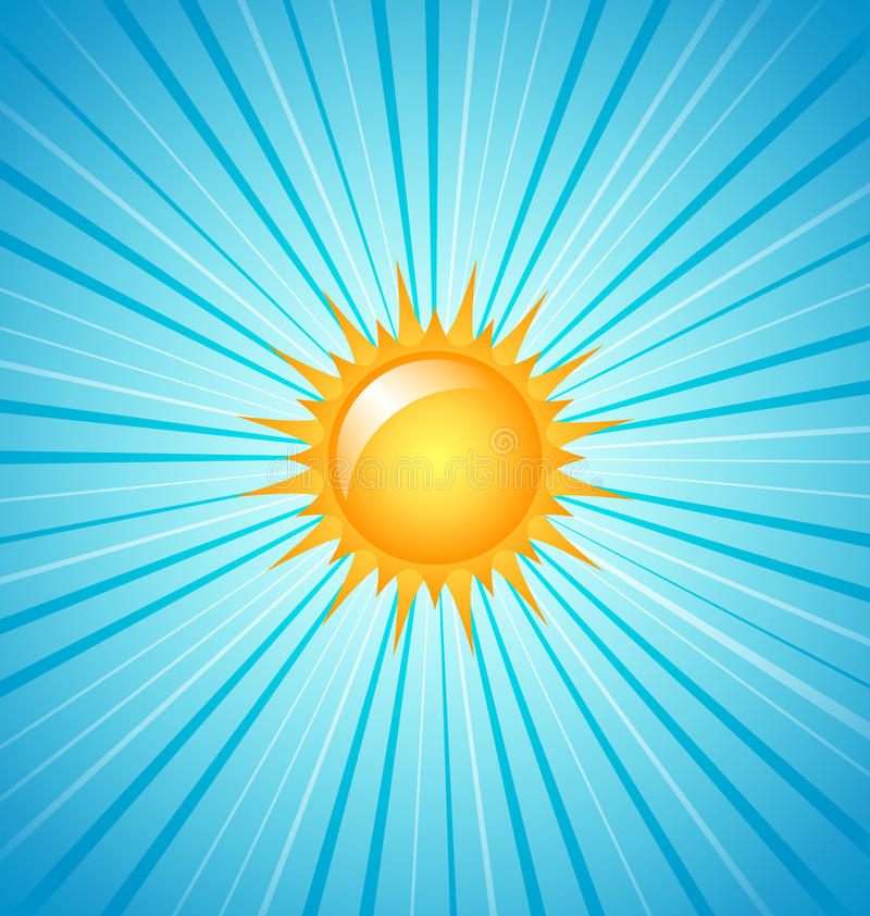 duży olśniewający słońce ilustracja wektor