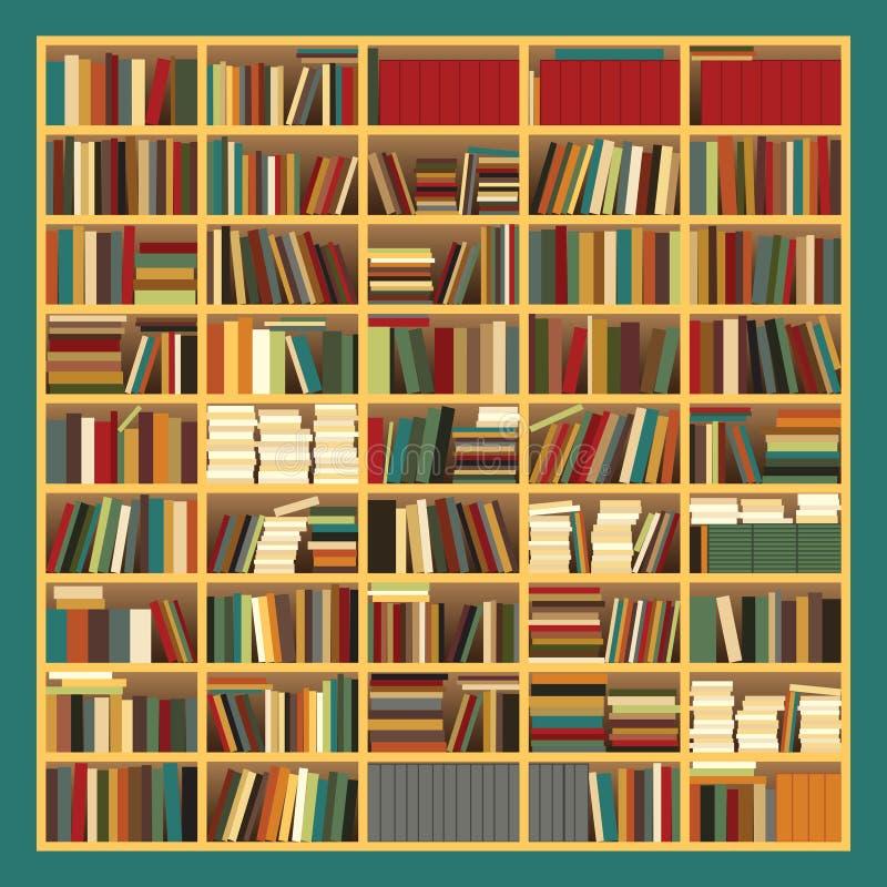 Duży półka na książki ilustracja wektor