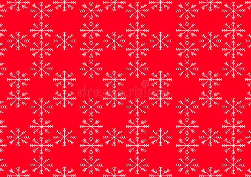 Duży płatek śniegu z czerwonym i białym kolorem 10 eps ilustracyjny osłony wektor royalty ilustracja