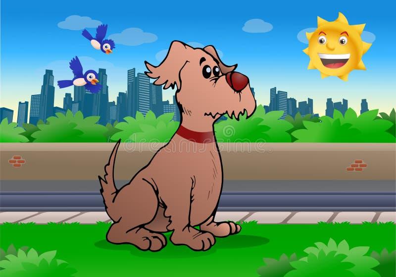 Duży pies ilustracji