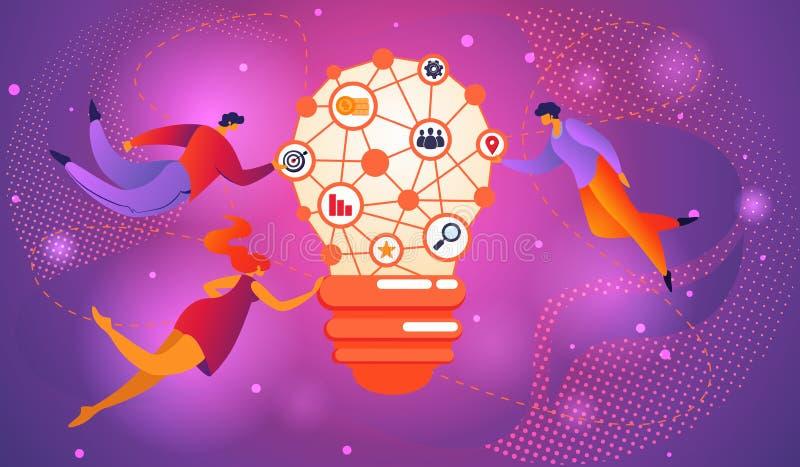 Duży pomysł Brainstorming Infographic pojęcie bańki, royalty ilustracja