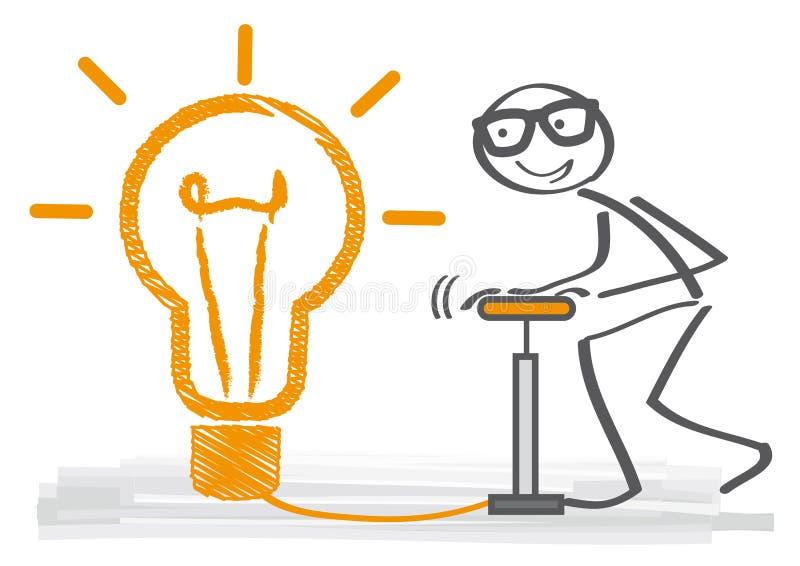 Duży pomysł - myśl duża royalty ilustracja