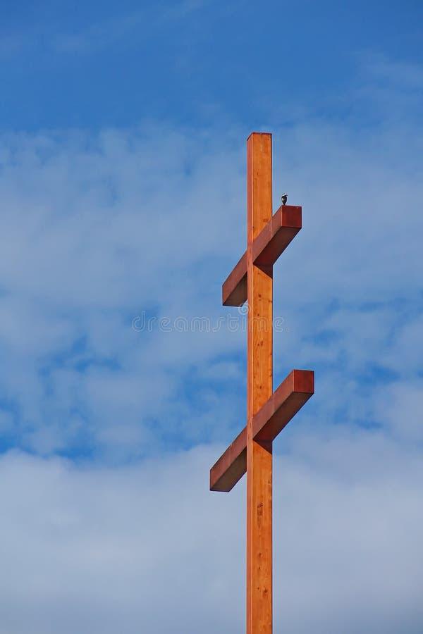 Duży ptak i krzyż troszkę fotografia royalty free