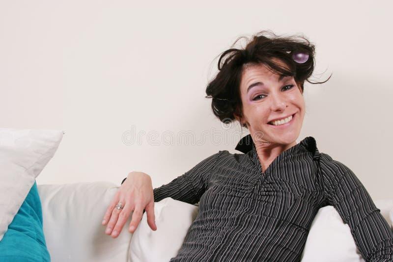 duży robi włosy jej uśmiech kobieta fotografia royalty free