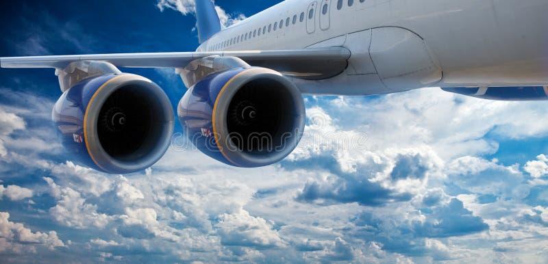 Duży samolot zdjęcia royalty free