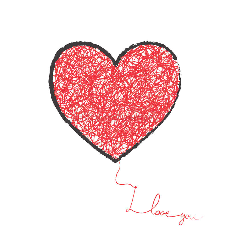 Duży serce ilustracji
