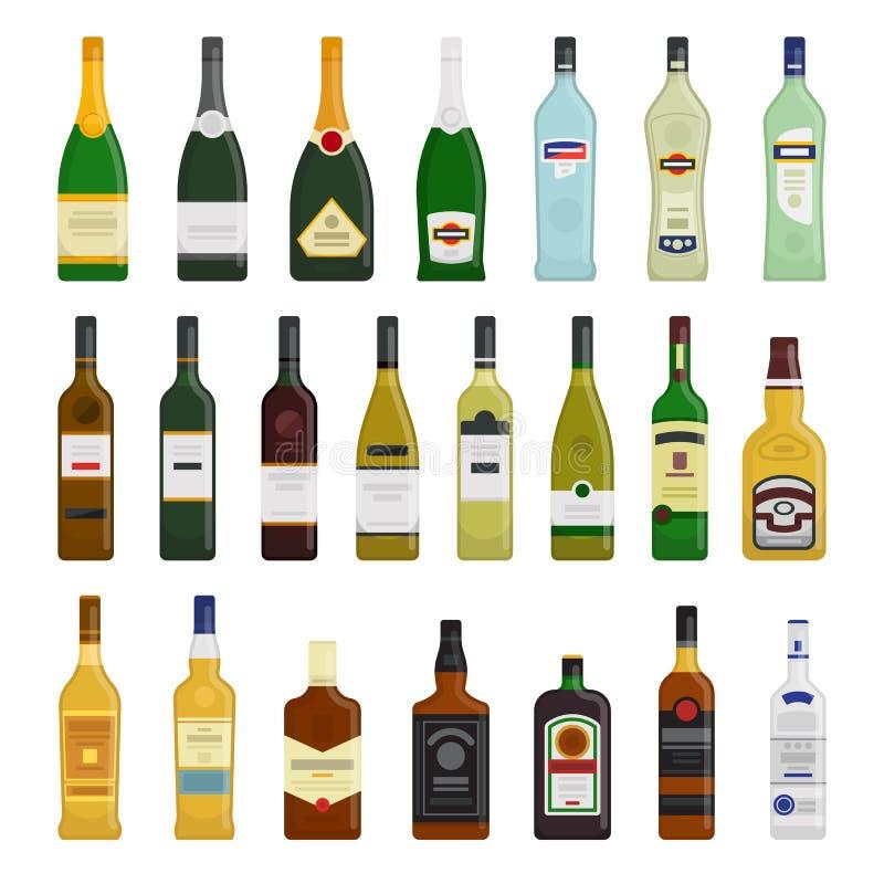 Duży set różne butelki royalty ilustracja