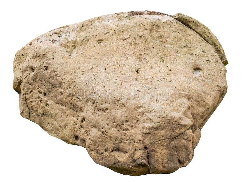 Duży skała kamień odizolowywający na bielu obraz royalty free