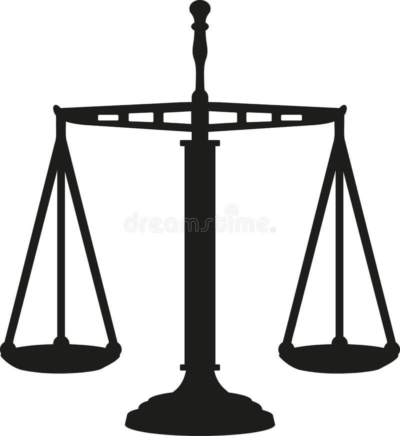 Duży sprawiedliwości skala równy ilustracja wektor