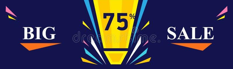Duży sprzedaż sztandar - rabat 75 daleko Specjalnej oferty projekta układ ilustracji
