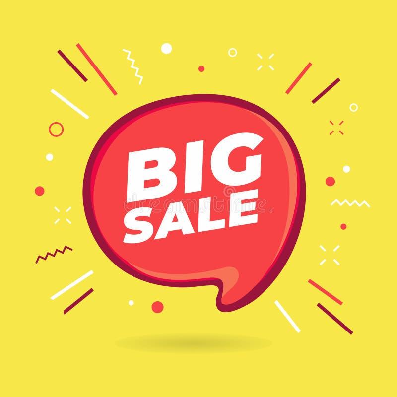 Duży sprzedaży mowy bąbel ilustracja wektor