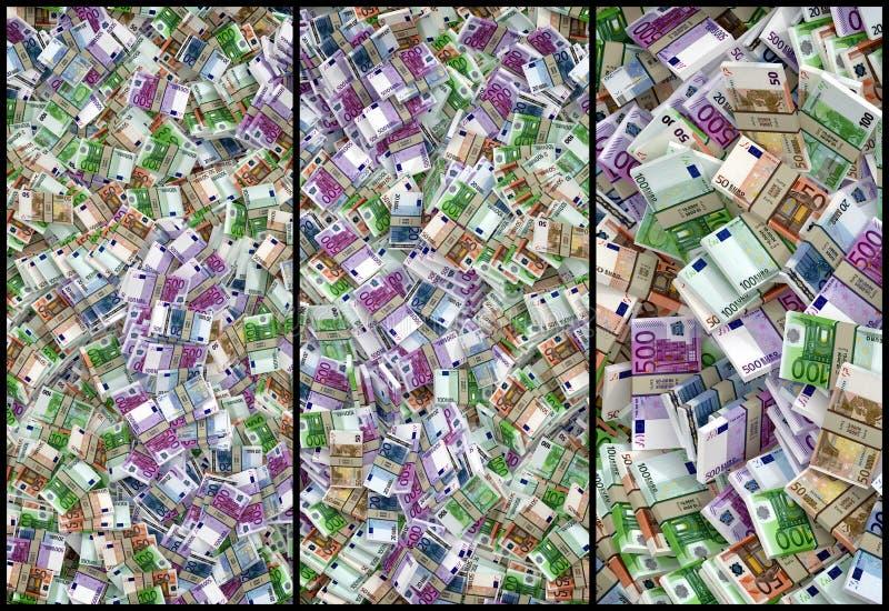 Duży stos Euro banknoty ilustracji