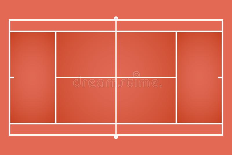 Duży tenisowy sąd ilustracji