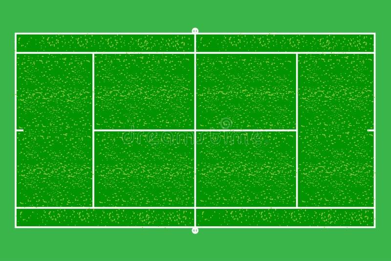 Duży tenisowy sąd ilustracja wektor