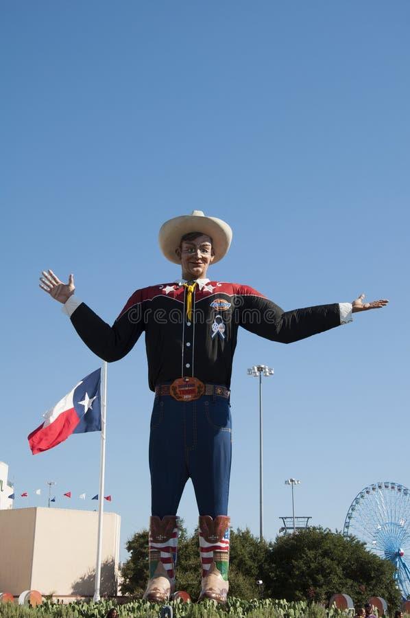 Duży Tex, Teksas stanu jarmark zdjęcia royalty free