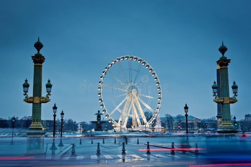 Duży toczą wewnątrz Paryż, Miejsce De Los angeles Concorde zdjęcia stock