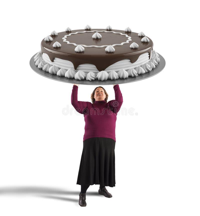 duży tortowa czekolada fotografia royalty free