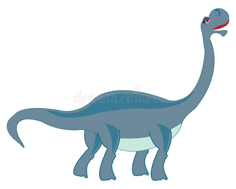 Duży trawożerny dinosaur royalty ilustracja
