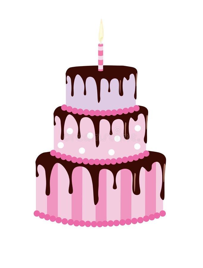 duży urodzinowy tort ilustracji