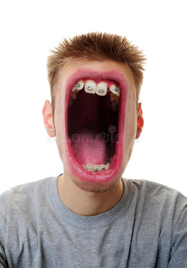 duży usta obraz stock