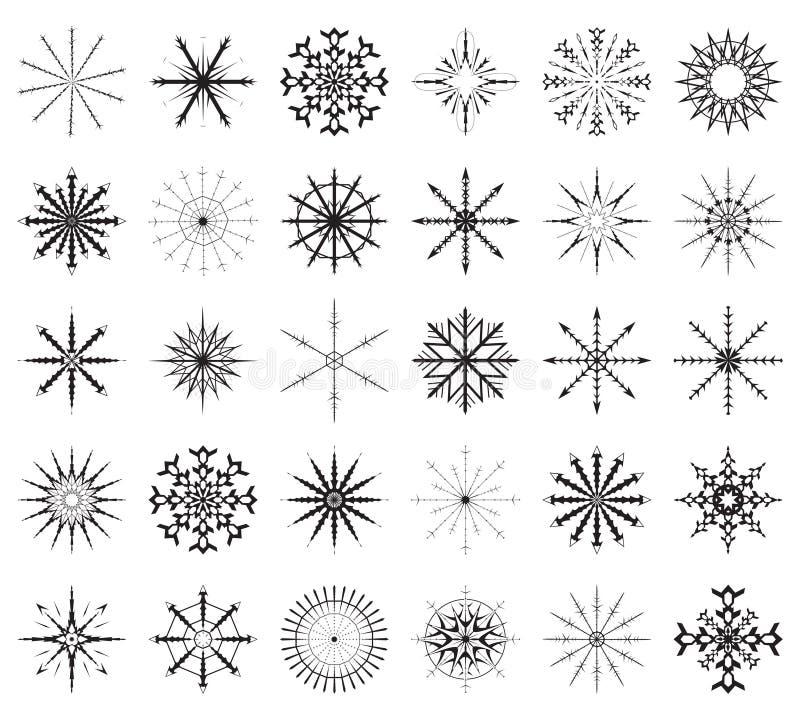 duży ustalony płatek śniegu royalty ilustracja