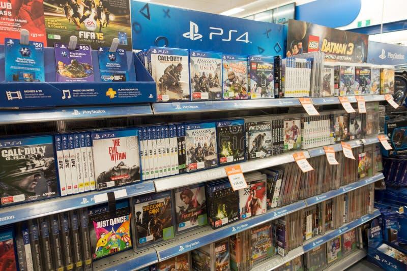 Duży W, Playstation gry, Australia zdjęcie stock