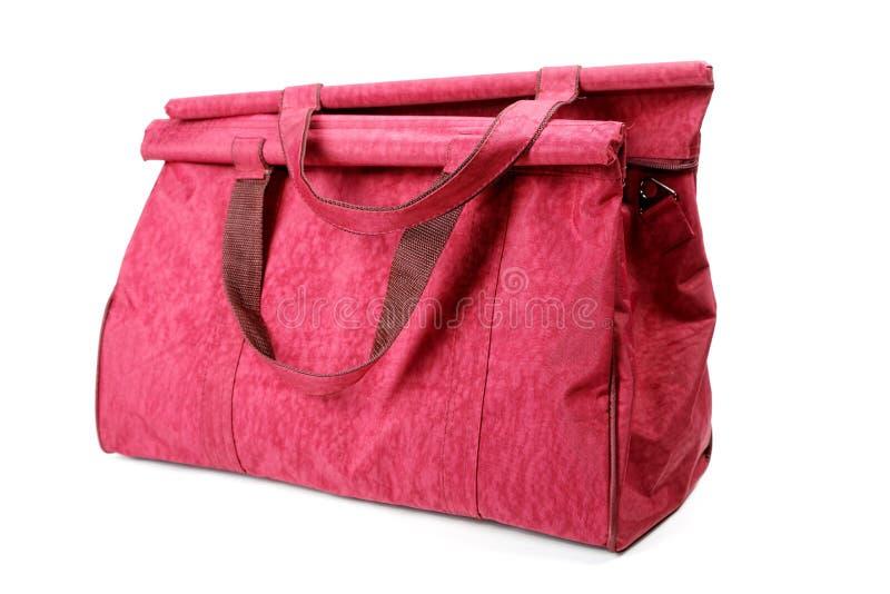 Duży wałkoni się damy torebkę odizolowywającą na bielu obrazy royalty free