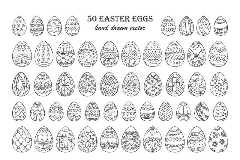 Duży wektorowy Wielkanocnego jajka set ilustracja wektor