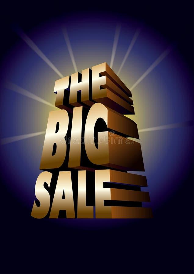 duży złocista sprzedaż royalty ilustracja