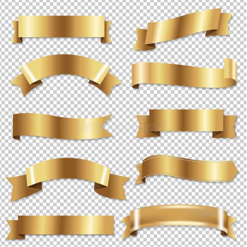 Duży Złoty faborku Se ilustracja wektor