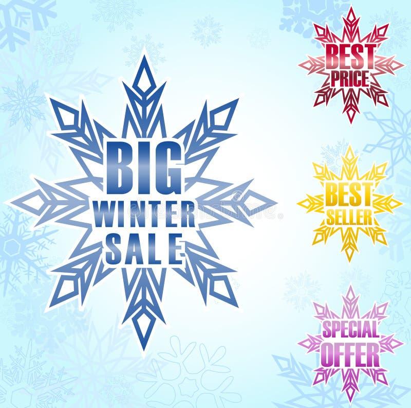 Duży zimy sprzedaży plakata tło royalty ilustracja