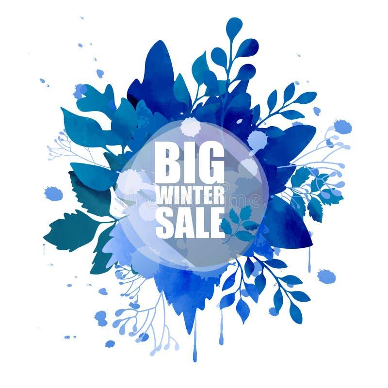 Duży zimy sprzedaży tło ilustracji